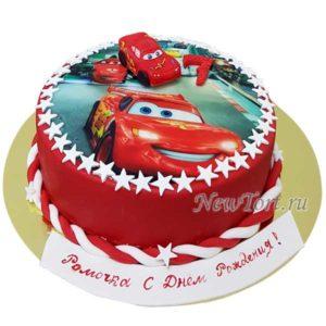 Торт Молния Маквин  на картинке