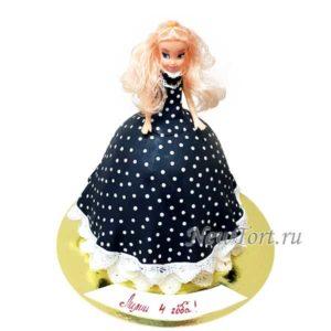 Торт кукла в платье горошек