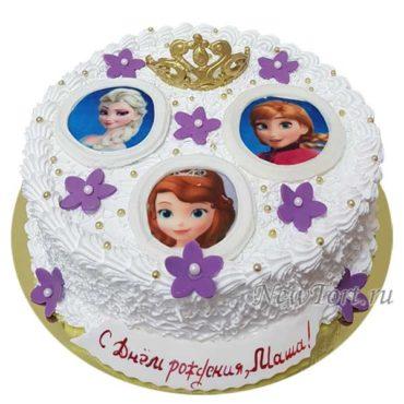 Торт принцессы и корона