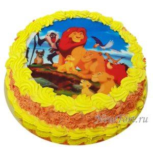 Торт  Король Лев на картинке