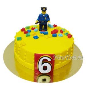 Торт лего полицейский