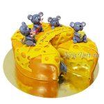 Торт с мышками и сыром