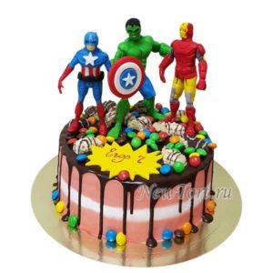 Торт Марвел супергерои