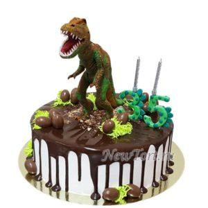 Торт на юбилей с динозавром