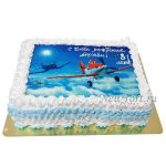 Торт самолетик Датси на картинке