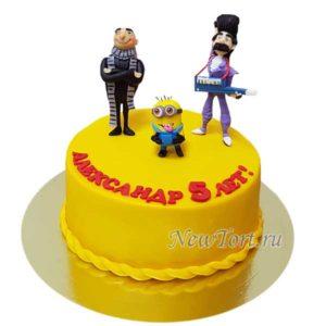 Торт персонажи Миньонов