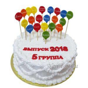 Торт на выпускной  с шариками
