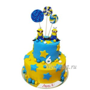 Большой торт с Миньонами