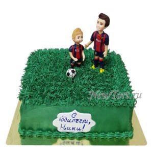 Торт маленький футболист и тренер