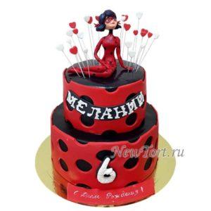Большой торт  с Леди Баг