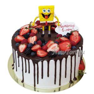 Торт губка Боб ягодный