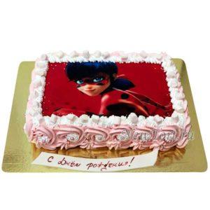 Торт с картинкой  Леди Баг