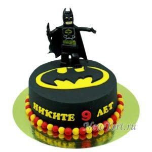 Торт черный лего Бэтмен