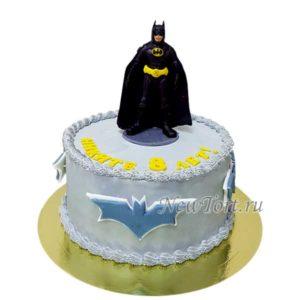 Серый торт Бэтмен без мастики