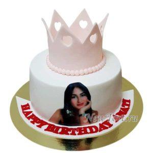 торт с фото для королевы
