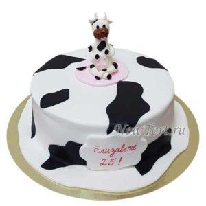 Прикольный торт с коровой