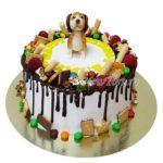 Торт с собачкой и конфетками