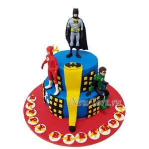 Торт Бэтмен, Зеленый фонарь и Флеш