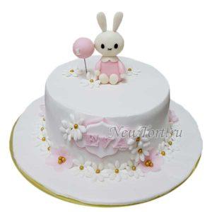 Нежный торт с зайкой