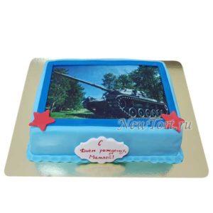 Торт с фото танка