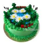 Торт с лягушками