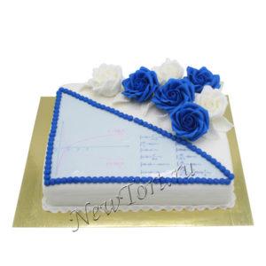 Торт с розами для учительницы