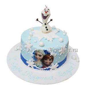 Зимний торт с Олафом