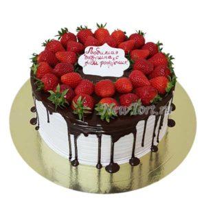 Ягодный торт на день рождение бабушки