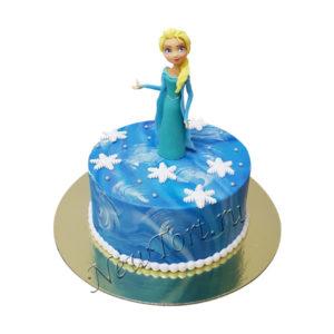 Мастичный торт  с Эльзой
