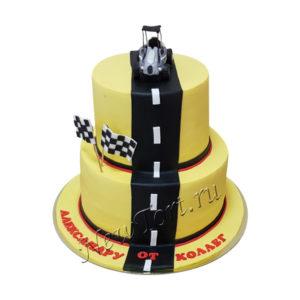 Корпоративный торт гоночная трасса