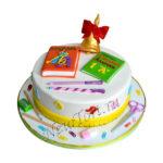 Торт с колокольчиком из мастики