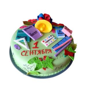 Торт на 1 сентября из мастики
