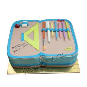 Торт на 1 сентября школьный пенал