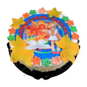 Торт на 1 сентября с фотопечатью