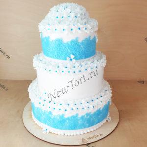 Белый свадебный торт СТ289
