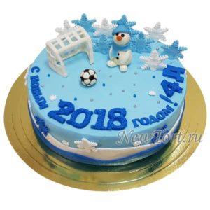 Торт снеговик - футболист