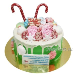 Новогодний торт с безе