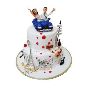 Торт свадебное путешествие