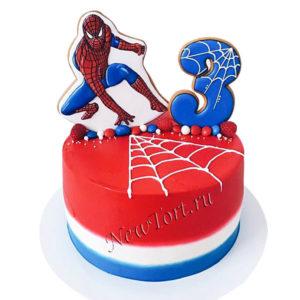Торт Человек паук с пряниками
