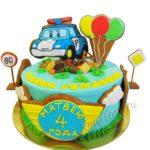 Торт Поли Робокар с пряниками