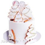 Новогодний торт c пряниками