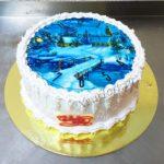 Новогодний торт c часами
