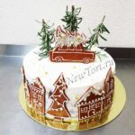 Новогодний торт c машинкой