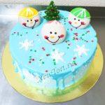 Новогодний торт cо смайликами