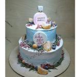 Новогодний торт с шанель