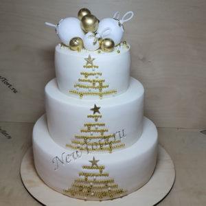 Новогодний торт с елочкой - 2020