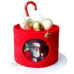 Новогодний торт Дед мороз и шары НТ38