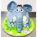 Торт слоненок на поляне