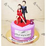 Корпоративный  торт для танцевального клуба
