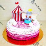 Торт слоненок цирке